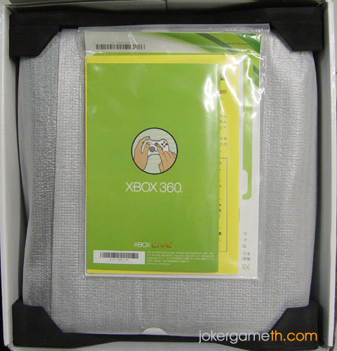 Xbox360 slim inside box